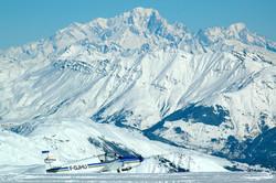 Mont Blanc en toile de fond du St Sorlin