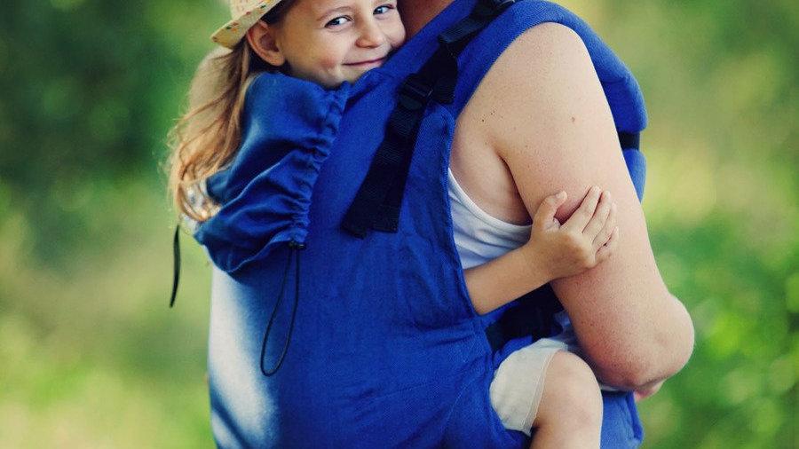 Little Frog XL Toddler Carrier -  Blue Heringbone
