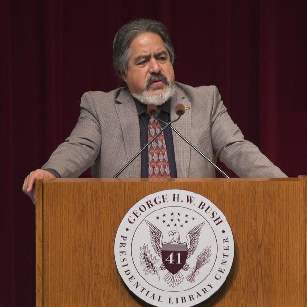 College dean Jorge Vanegas at the conference.