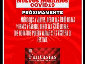 NUEVOS HORARIOS COVID19