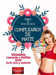 SÁBADO 16 - CUMPLEAÑOS DE MAITE