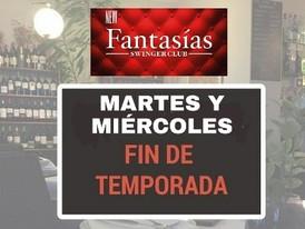 MARTES Y MIÉRCOLES-CERRADOS-FIN DE TEMPORADA