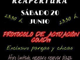 20/06/20 - REAPERTURA!!!