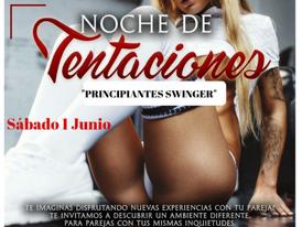 """SÁBADO 1-NOCHE DE TENTACIONES """"Principiantes Swinger"""""""