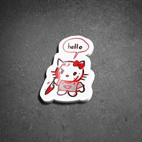 Murder Hello Kitty Sticker