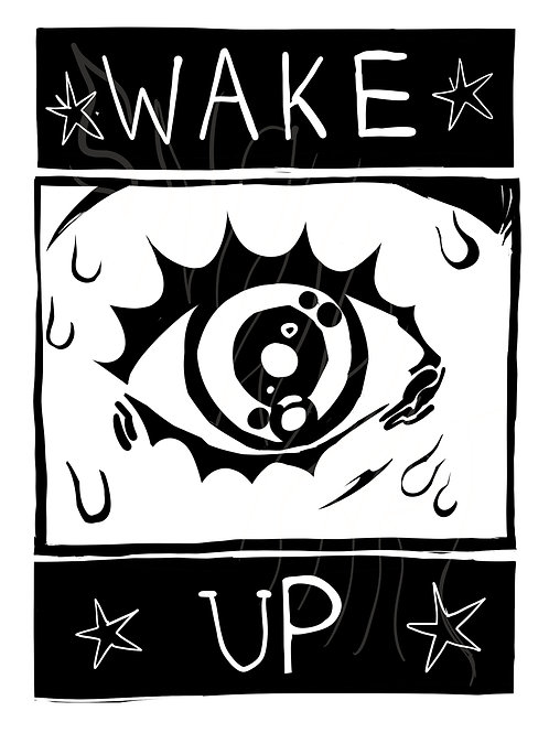 WAKE UP Coloring Page