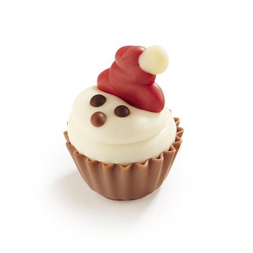 Chocolate Santa Cupcake