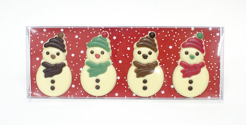 Belgian Chocolate Snowman - 4 pcs in gift box