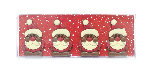 Belgian Chocolate Santa- 4 pcs in gift box