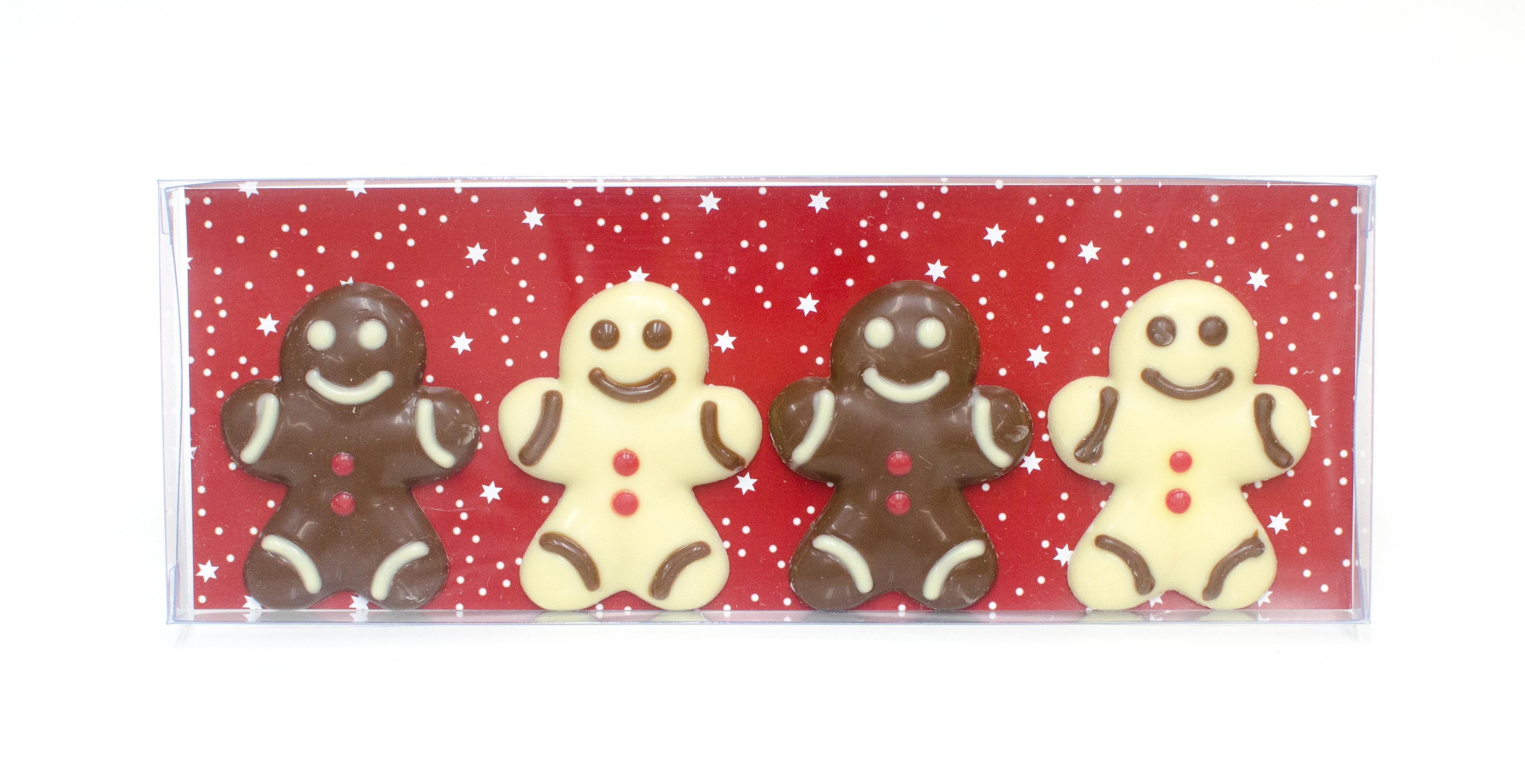 Belgian Chocolate Gingerbread Man 4 Pcs In Gift Box