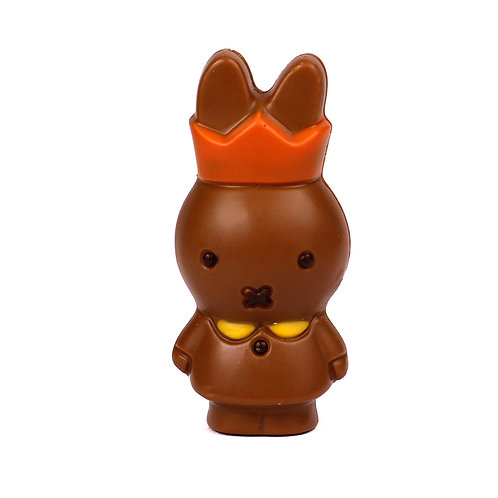 Miffy with crown  and 1 Belgian chocolate