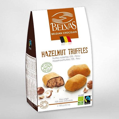 Organic & gluten free & fairtrade Belgian Choc Hazelnut truffles