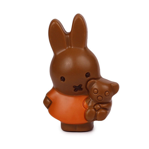 Miffy with bear  and 1 Belgian chocolate