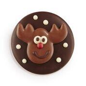 Belgian Chocolate Round Reindeer  7 cm