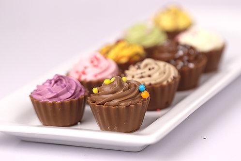 Belgian Chocolate Cup cake  gift box 9 pcs