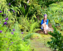 Women meditation in tropical nature