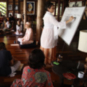 P1_Radha Ma Teaching a Wisdom Class In A
