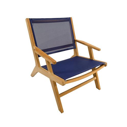Milano Sling Armchair, Blue