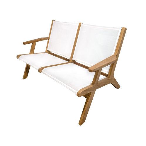 Milano Sling Love Seat, White
