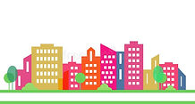 color-silhouette-city-white-group-houses