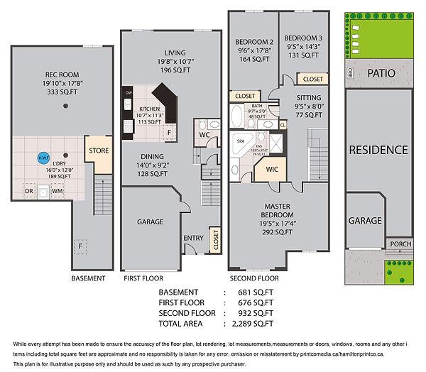 320 Keystone Crescent Hannon Floor Plan.