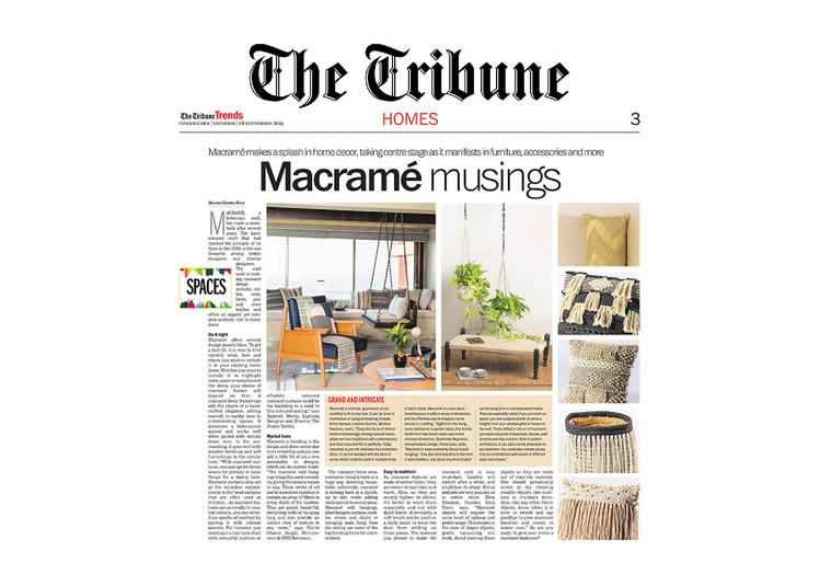 The Tribune - Macramé Musings