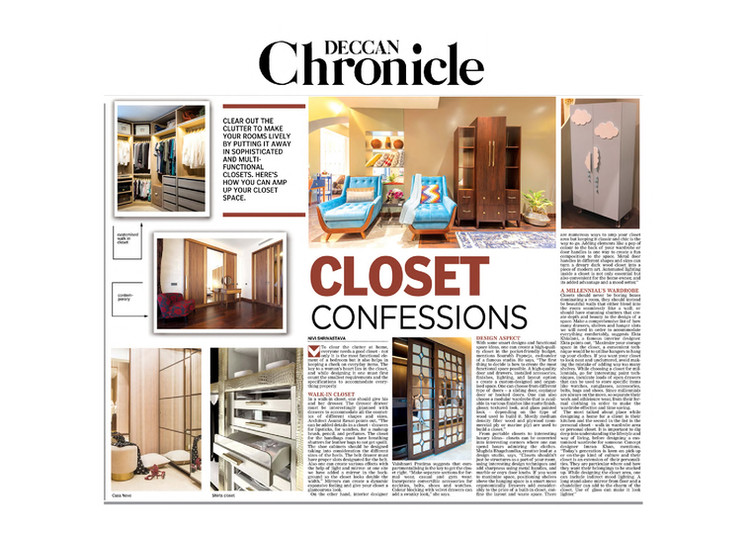 Deccan Chronicle - Closet Confessions