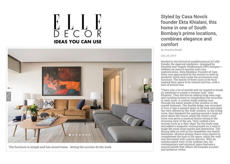 Elle Decor - Styled by Casa Novo
