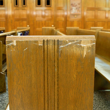 Church Pew Bench Strip, Finish And Veneer  Restoration