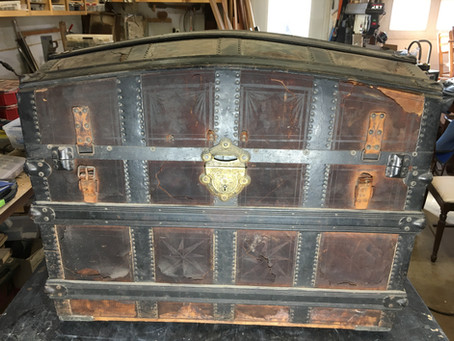 Our Most Memorable Repairs: Leather steamer trunk