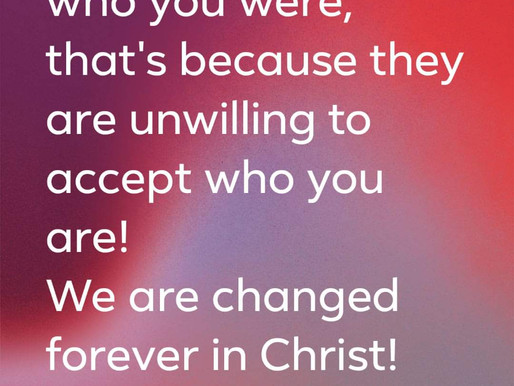 Answering to Your Promise, Not Your Past!