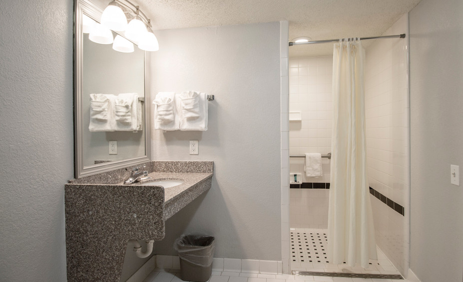 King Accessible Bathroom w/ Roll-in Shower