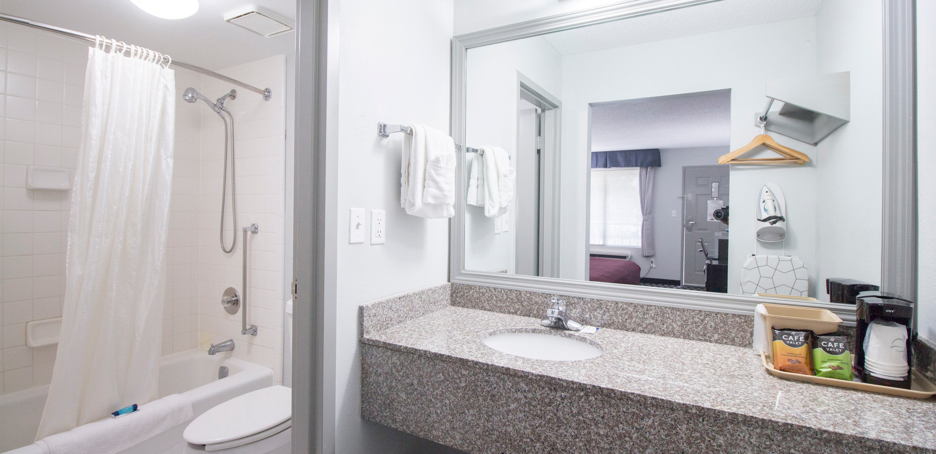 Standard Bathroom and Vanity Area