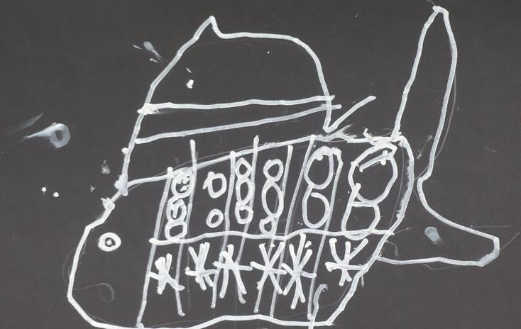 POISSONS DES PROFONDEURS, marqueur acrylique - École privée la Transition, Saint-Jean-de-Monts