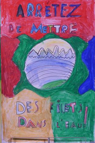 SAUVONS LA NATURE, crayon-aquarelle - École de la Transition, Saint-Jean-de-Monts
