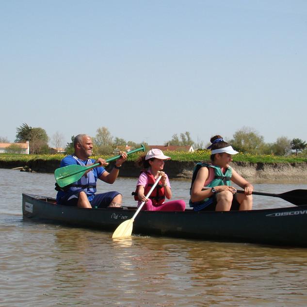 RDV Famille Balade en canoë