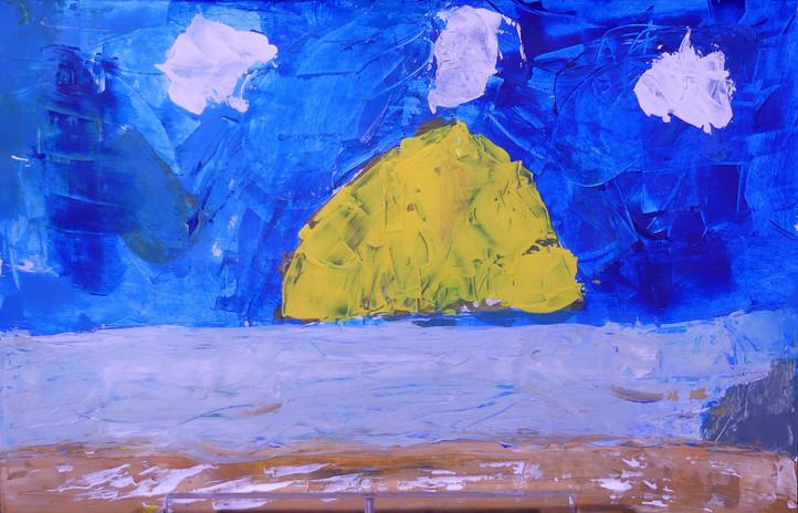 Les enfants ont découvert la peinture au couteau à travers l'œuvre si singulière de Nicolas de Staël. Ça paraît simple, mais c'est pourtant si difficile de maîtriser les épaisses couches de peinture, d'éliminer les détails, d'aller à l'essentiel pour flirter avec l'abstraction.