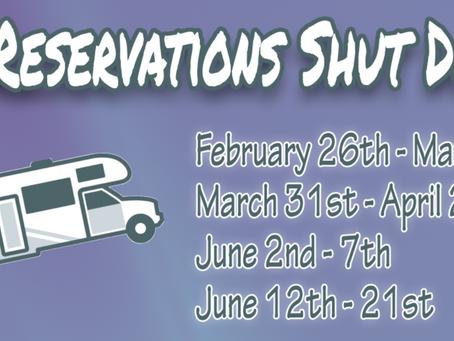 RV Reservations Shutdown
