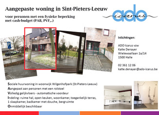 Aangepaste woning in Sint-Pieters-Leeuw