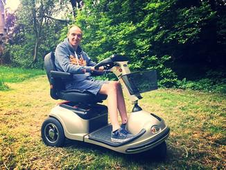 Een scooter voor gebruiker Jimmy