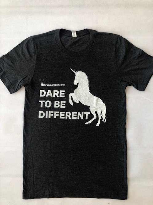Adult Dare to Be Different Unicorn Short Sleeve Tee
