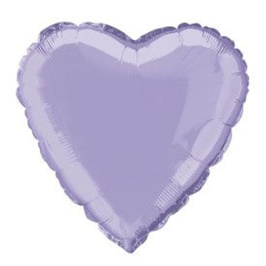 "Balloon Foil 18"" Heart Lavender"