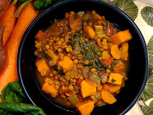 Warming Lentil Crockpot Soup