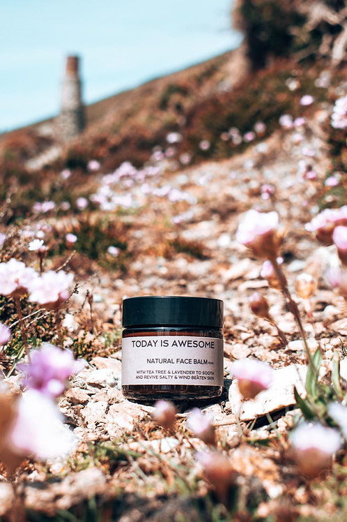 Natural Face Balm with Jasmine, Rosemary & Clary Sage