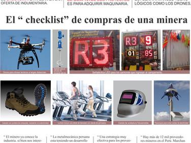 """EL """"checklist"""" de compras de una minera"""