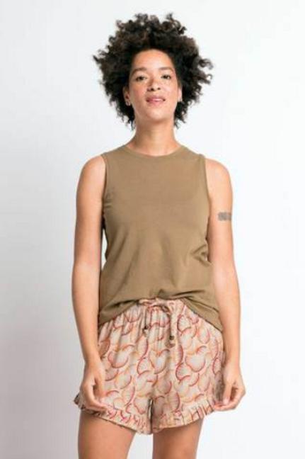 Sudara Lounge Shorts- Orange/Red (Logana)