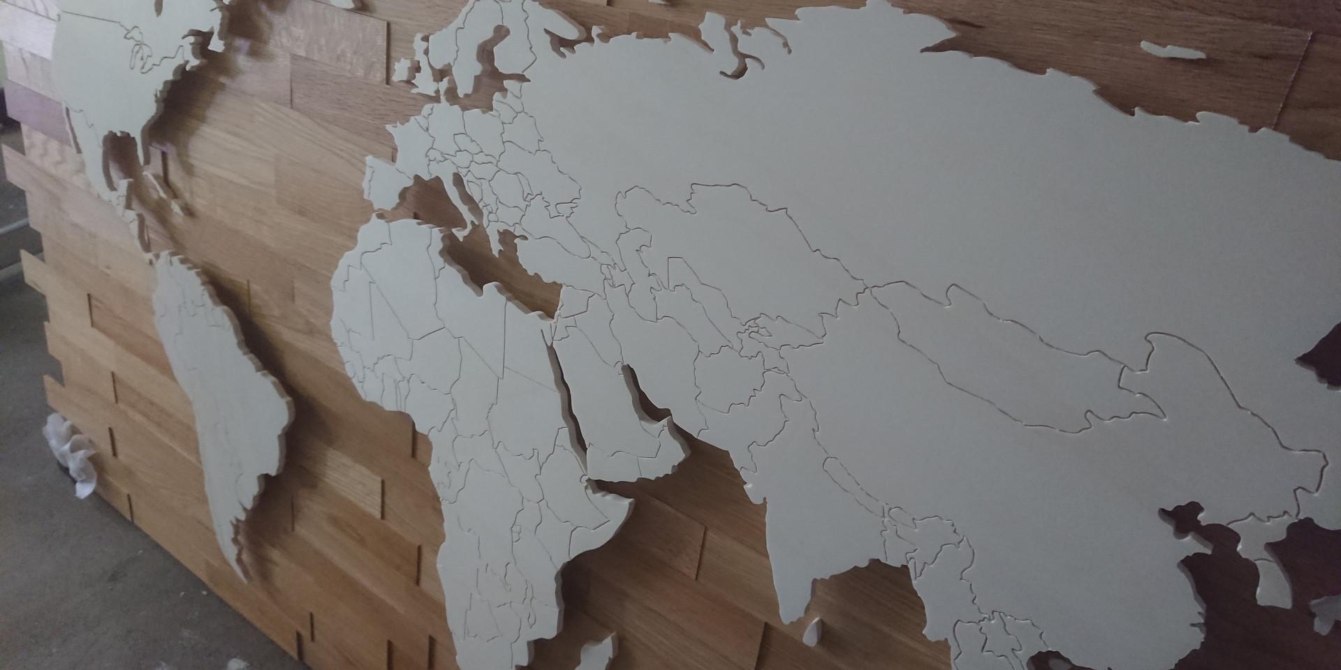Weltkarte 1,8m x 1,0m