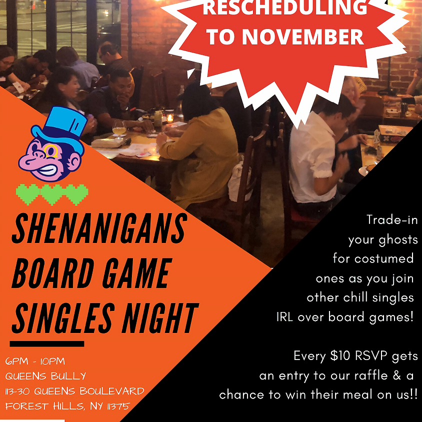 Shenanigans Board Game Singles Night!