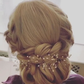 hair bun for wedding