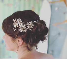 classic bridal hair up